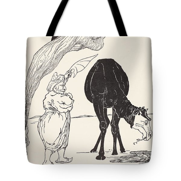 The Djinn In Charge Of All Deserts Guiding The Magic With His Magic Fan Tote Bag by Joseph Rudyard Kipling