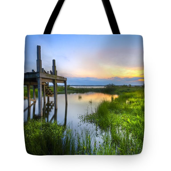 The Dock Tote Bag by Debra and Dave Vanderlaan
