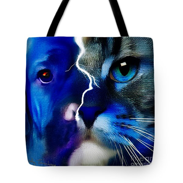 We All Connect Tote Bag by Kathy Tarochione