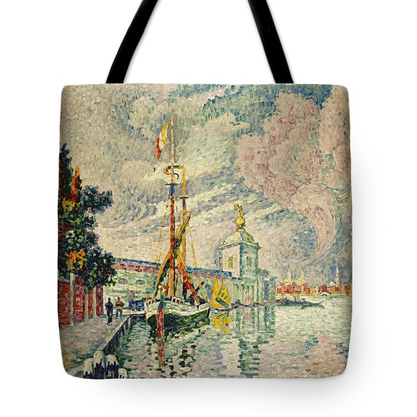 The Dogana Tote Bag by Paul Signac