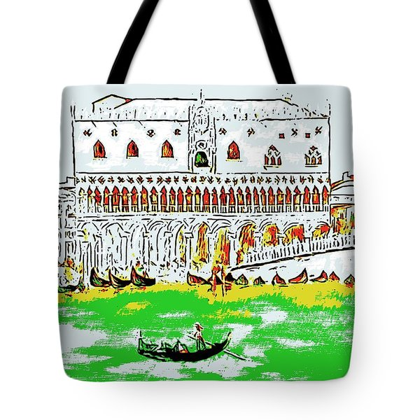 Tote Bag featuring the painting The Doge's Palace by Loredana Messina