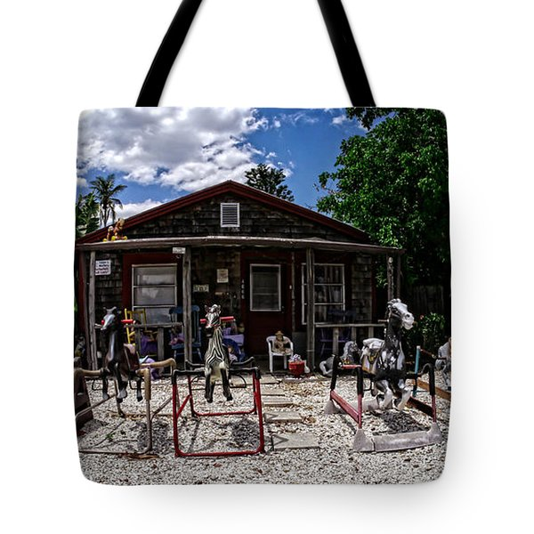 The Doll Lady Of Matlacha Tote Bag by Edward Fielding