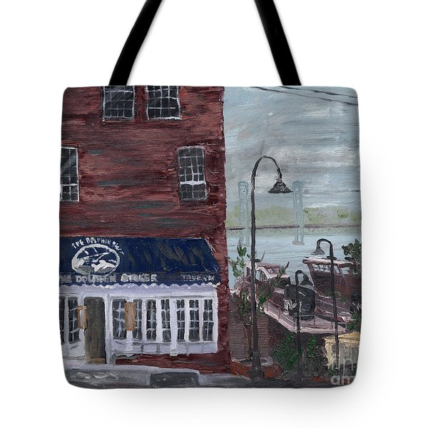 The Dolphin Striker Tote Bag