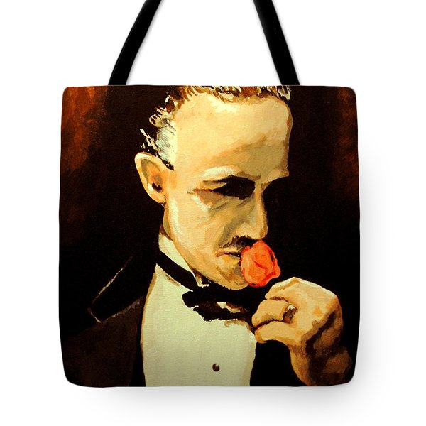 Tote Bag featuring the painting The Don And The Rose by Dale Loos Jr