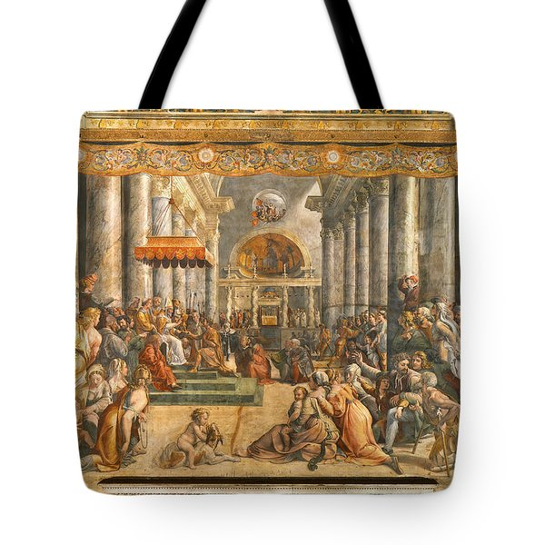 The Donation Of Rome. Tote Bag