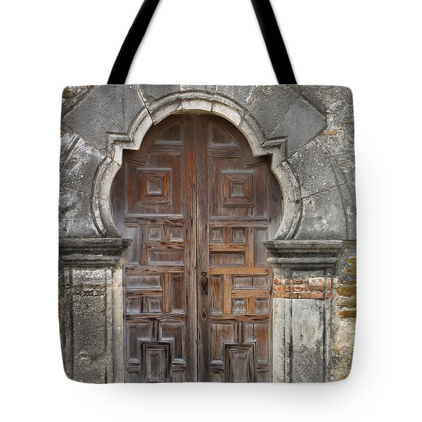 The Door Of Espada Mission  Tote Bag