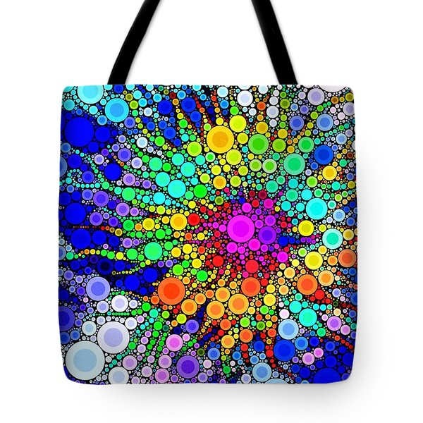 The Dots Have It Tote Bag by Elizabeth Budd
