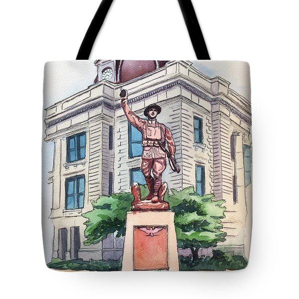 The Doughboy Statue Tote Bag