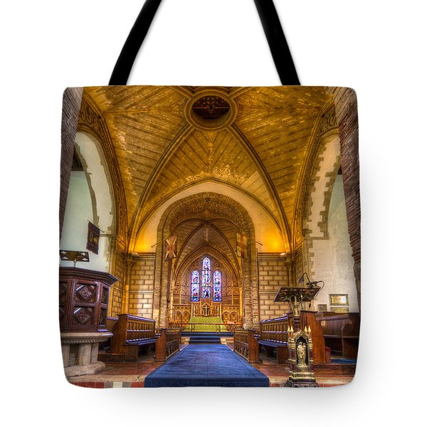 The Dover Church Of St. Mary In Castro Tote Bag by Tim Stanley
