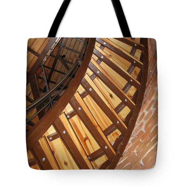 The Downside Of Spiral Stairs Tote Bag by Ausra Huntington nee Paulauskaite