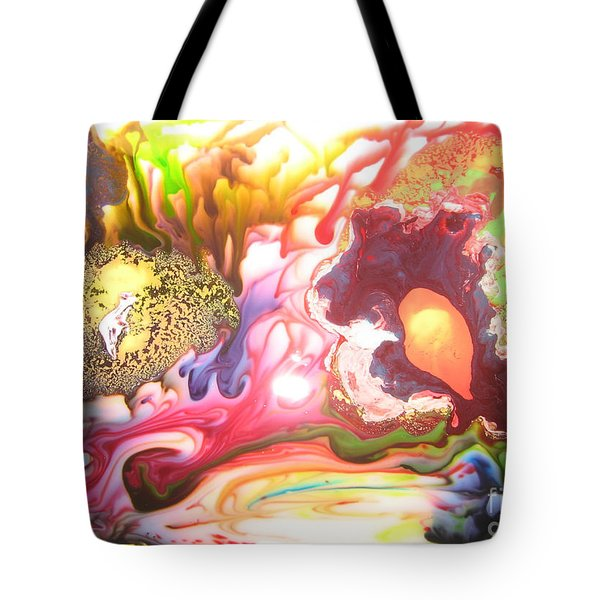 Tote Bag featuring the painting The Dragon by Lucy Matta