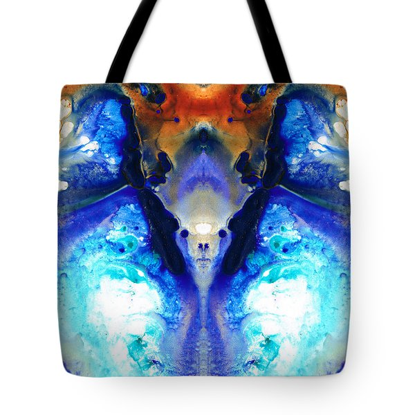 The Dragon - Visionary Art By Sharon Cummings Tote Bag by Sharon Cummings