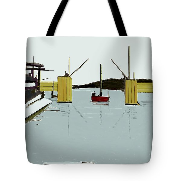 The Drawbridge   Number 4 Tote Bag