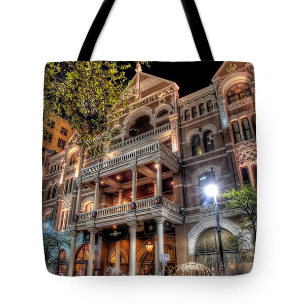 The Driskill Hotel Tote Bag by Tim Stanley