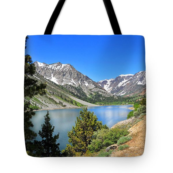 The Drive By Lundy Lake Tote Bag by Lynn Bauer