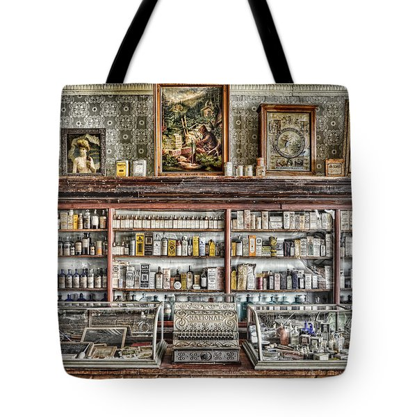 The Drug Store Counter Tote Bag by Ken Smith