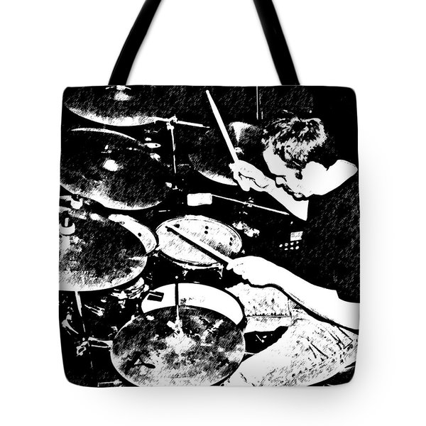 The Drummer Tote Bag by Chris Berry