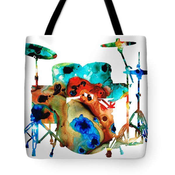 The Drums - Music Art By Sharon Cummings Tote Bag