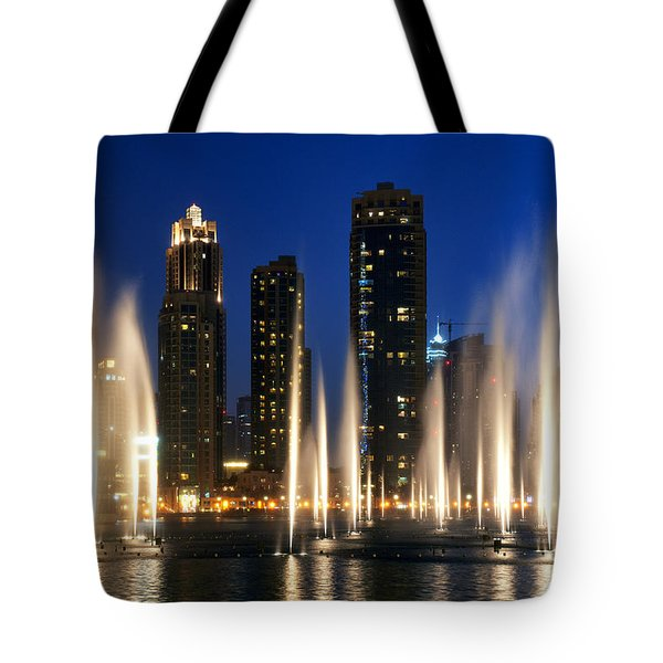 The Dubai Fountains Tote Bag