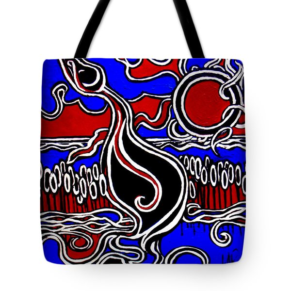 The Duck Pond Tote Bag by Art by Kar