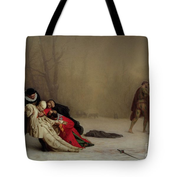 The Duel After The Masquerade Tote Bag by Jean Leon Gerome