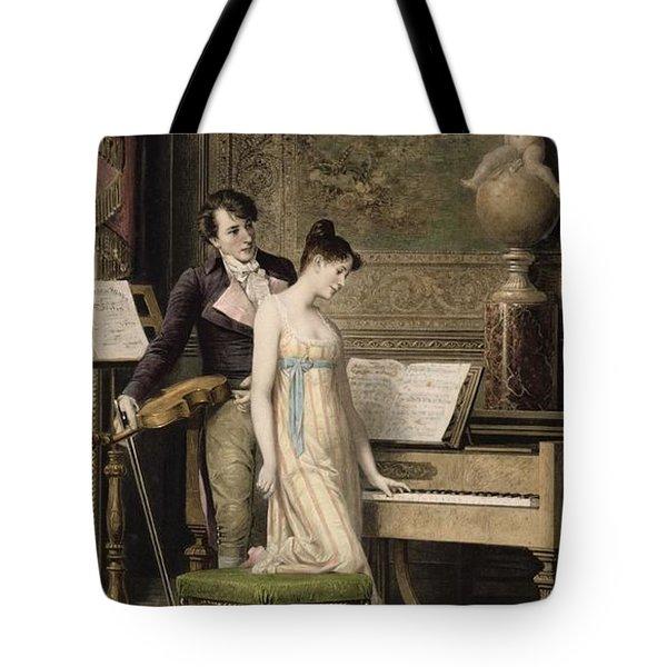 The Duet Tote Bag by Karl the Elder Schweninger