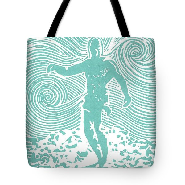The Duke In Aqua Tote Bag