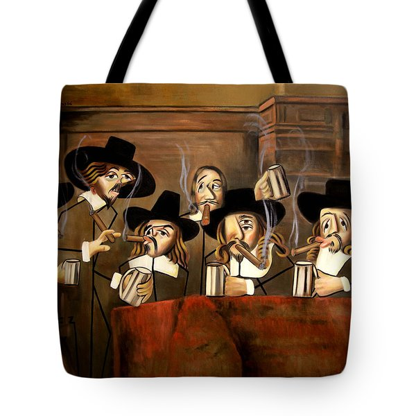Tote Bag featuring the painting The Dutch Masters by Anthony Falbo