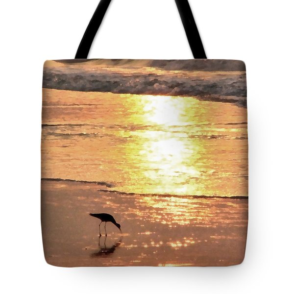 Tote Bag featuring the photograph The Early Bird by Todd Blanchard