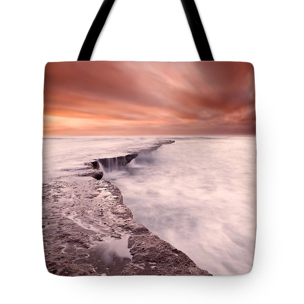 The Edge Of Earth Tote Bag