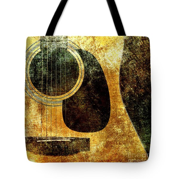 The Edgy Abstract Guitar Square Tote Bag by Andee Design