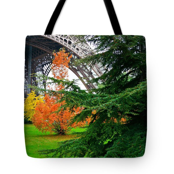 The Eiffel In Fall Tote Bag