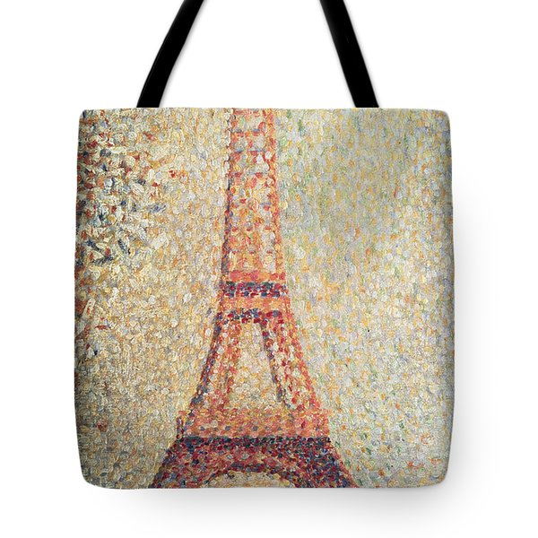 The Eiffel Tower Tote Bag by Georges Pierre Seurat