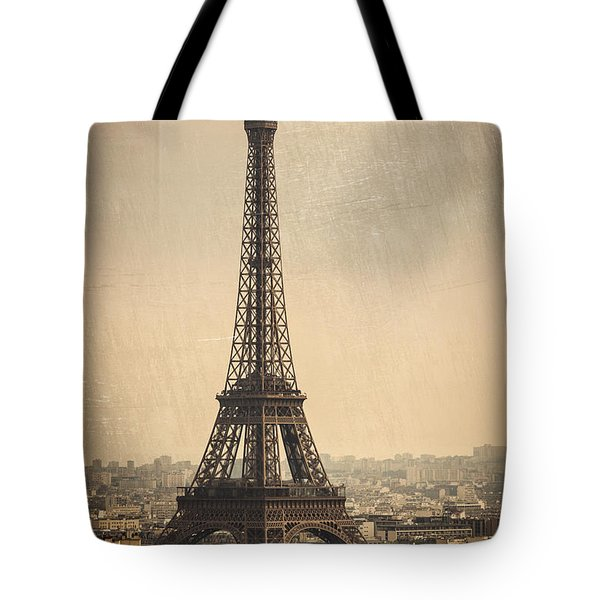 The Eiffel Tower In Paris France Tote Bag