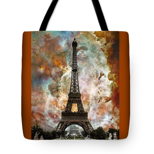 The Eiffel Tower - Paris France Art By Sharon Cummings Tote Bag