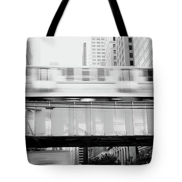 The El Elevated Train Chicago Il Tote Bag