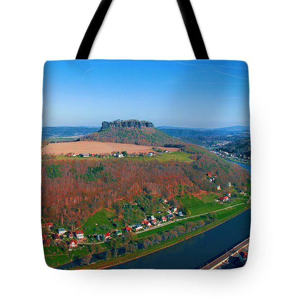 The Elbe Around The Lilienstein Tote Bag