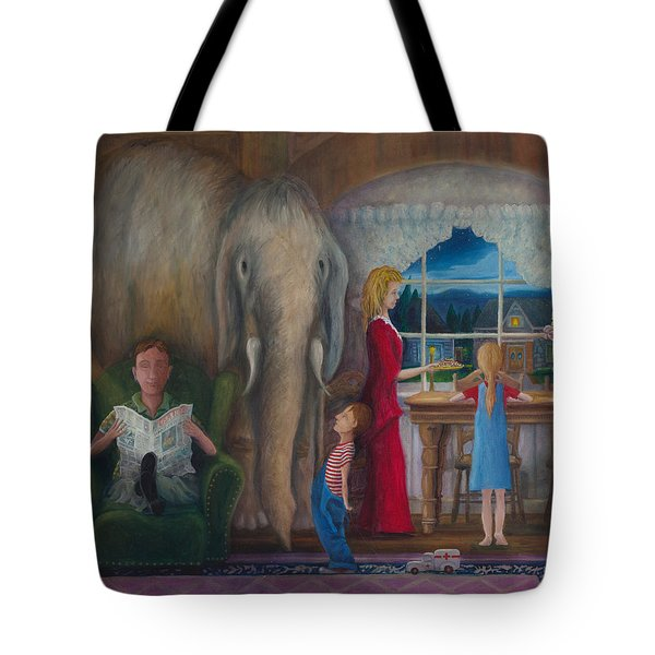 The Elephant Ambulance And Cookies Tote Bag
