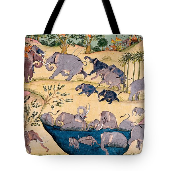 The Elephant Hunt Tote Bag by Indian School