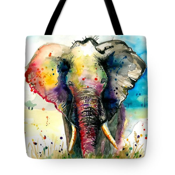 The Rainbow Elephant - Xxl Format Tote Bag