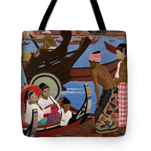 The Embarkation 1920s Tote Bag by Ernest Procter
