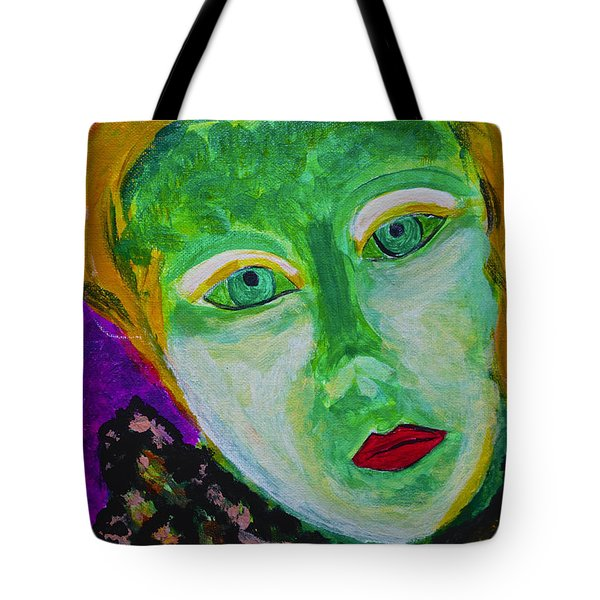 Tote Bag featuring the painting The Emerald Lady by Joan Reese