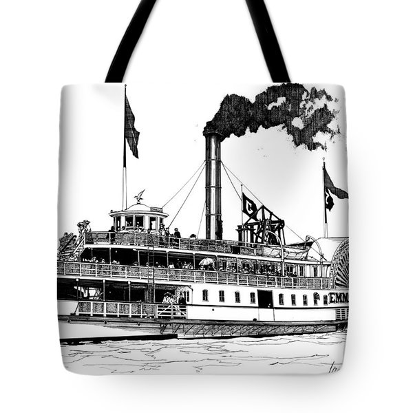 Tote Bag featuring the drawing The Emma Giles by Ira Shander