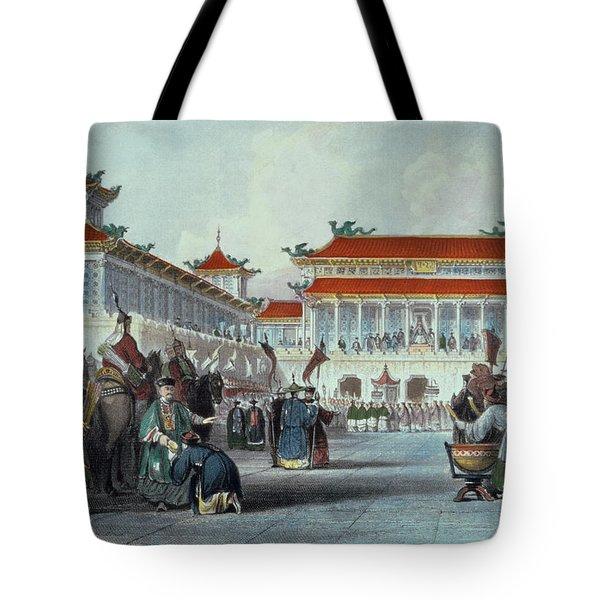 The Emperor Teaon-kwang Reviewing Tote Bag
