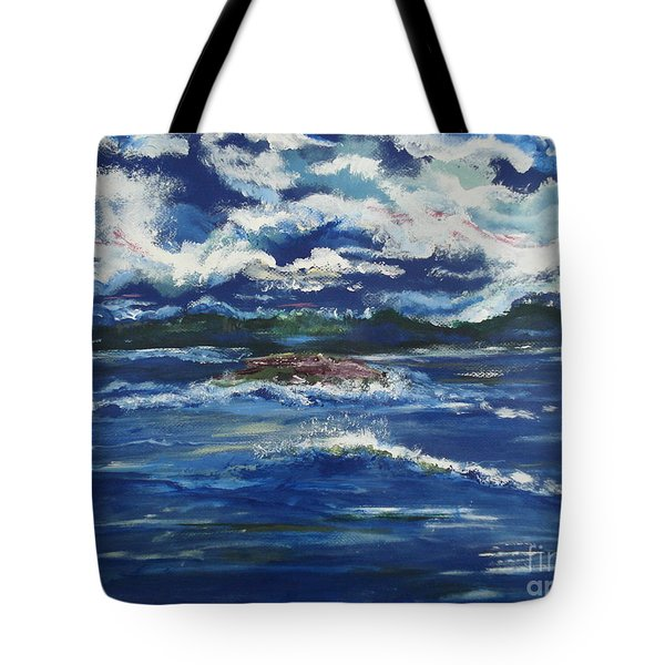 Tote Bag featuring the painting The Enchanting Sea  by Lori  Lovetere