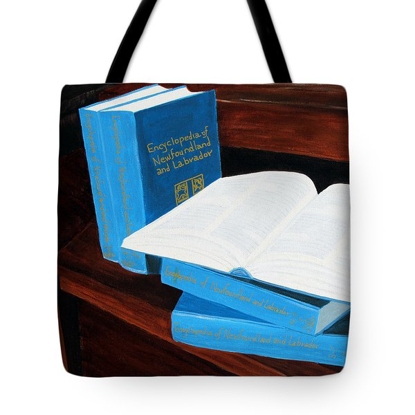 The Encyclopedia Of Newfoundland And Labrador - Joeys Books Tote Bag by Barbara Griffin