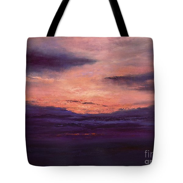 The End Of A Perfect Day Tote Bag by Valerie Travers