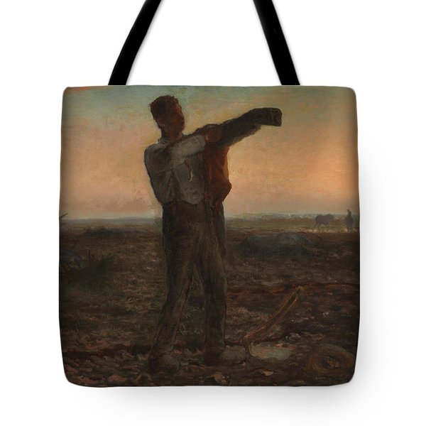 The End Of The Day Effect Of Evening  Tote Bag by Jean-Francois Millet