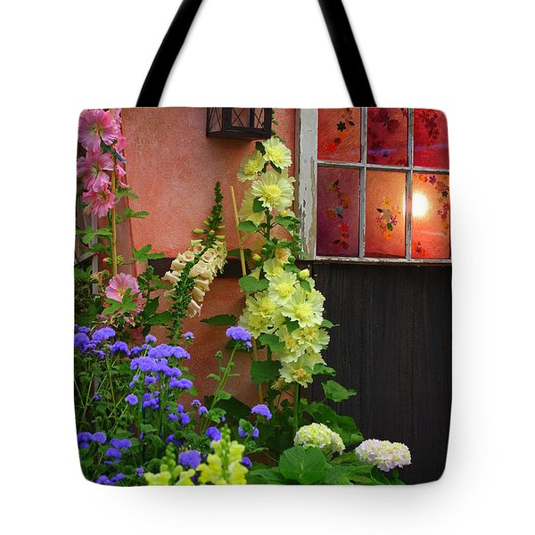 The English Cottage Window Tote Bag by Dora Sofia Caputo Photographic Art and Design