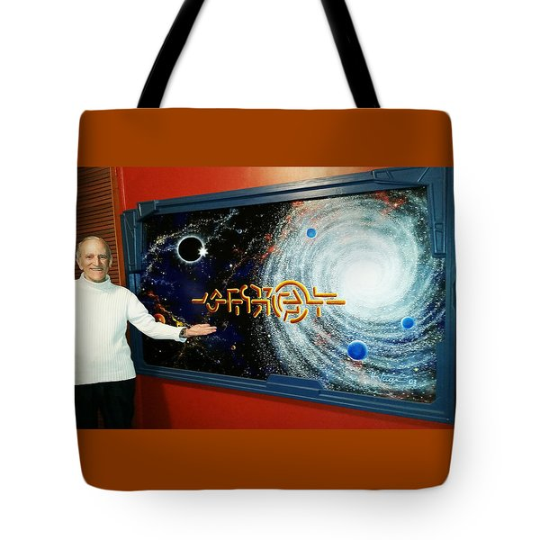 Tote Bag featuring the painting The  Enigma  Painting by Hartmut Jager